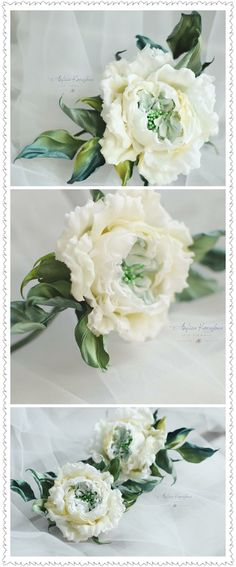 Anfisa Korelova Cloth Flowers, Satin Flowers, Silk Roses, Fabric Flowers, Fabric Embellishment, Flower Center, Ceramic Flowers, Crepe Paper, Gorgeous Fabrics