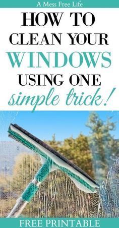 Nothing says spring cleaning like washing windows. Learn how to clean your windows just like the pros! My simple window cleaning solution will give you streak free windows that sparkle and shine. It's time to get the grime off before you open up those w Window Cleaning Solutions, Deep Cleaning Tips, House Cleaning Tips, Natural Cleaning Products, Spring Cleaning, Cleaning Hacks, Best Window Cleaning Solution, Window Cleaning Tips, Professional Window Cleaning