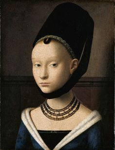 Petrus Christus - Portrait of a Young Woman - Google Art Project - Early Netherlandish painting - Wikipedia, the free encyclopedia
