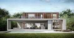 Modern Bungalow, Modern Loft, Modern Architecture House, Residential Architecture, Modern Tropical House, Minimal House Design, Sims House, Dream House Plans, Facade Design