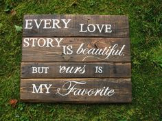 Reclaimed wood 24 x 20 Rustic wedding decor, Wedding sign rustic wall decor newlywed Every love story, rustic wedding sign love quote on Etsy, $68.00