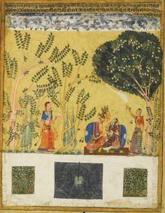 An illustration from a Ragamala series: Dipak Raga,Northern Deccan, circa 1630-50 | Lot | Sotheby's