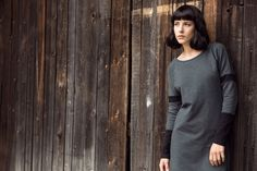 Knitted dress, grey&black. #basic #fw2014/15 #kamilagronner