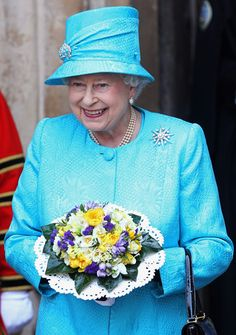 Queen Elizabeth II Photos Photos - Queen Elizabeth II leaves the Royal Maundy Day Service at Westminster Abbey on April 21, 2011 in London, England. Today is Queen Elizabeth II's 85th Birthday. - Queen Elizabeth II Attends The Royal Maundy Service At Westminster Abbey