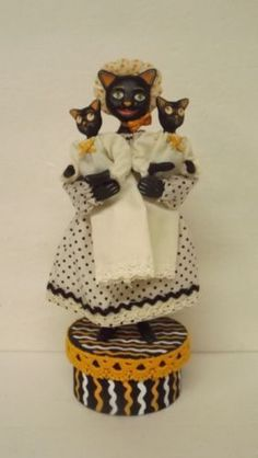 Bethany Lowe Halloween Nanny Cat by Alan Cunningham New
