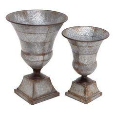 Cole & Grey 2 Piece Metal Urn Set
