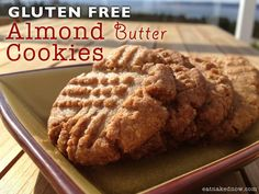 Grain-Free, Paleo Almond Butter Cookies Recipe