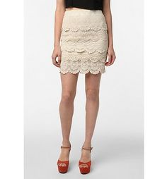 Tiered Crochet Mini Skirt.   Bought this in Florida.  Love it and it doubles as a top!