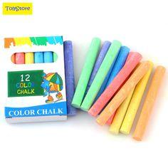 12 pcs/Lot Dustless Chalk Pen Drawing Chalks For Blackboard 6 Colors Stationary  #DDAYUP