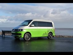 White and Green VW T5 Campervan With Grey Fabric!