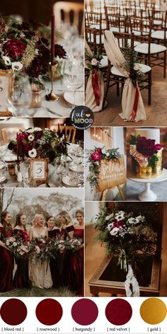 19 Ways To Have A Fabulous Wedding On A budget Rustic Wedding Ideas 1 - Fab Mood Wedding Colours Wedding Themes Wedding colour palettes Burgundy Wedding Colors, Rustic Wedding Colors, Winter Wedding Colors, Red Winter Weddings, Autumn Wedding Themes, Winter Themed Wedding, Wedding Color Themes, Burgandy And Gold Wedding, Autumn Wedding Ideas On A Budget