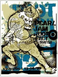 Pearl Jam - silkscreen concert poster (click image for more detail) Artist: Ames Design Venue: Key Arena Location: Seattle, WA Concert Date: & Size: 17 x Condition: Mint N Rock Posters, Band Posters, Concert Posters, Event Posters, Movie Posters, Music Classroom Posters, Pearl Jam Posters, Pearl Jam Eddie Vedder, New Poster