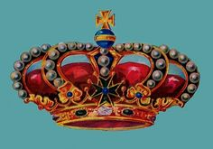 *The Graphics Fairy LLC*: Vintage Clip Art - Gorgeous Colorful Crown Graphics Fairy, Free Graphics, Crown Illustration, Vintage Cigar Box, Label Image, Vintage Images, Vintage Clip, Vintage Stuff, Pretty Box