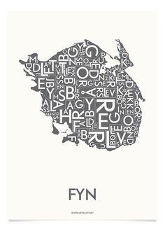 FYN - KOKSGRÅ - 50x70 CM | Kortkartellet ApS