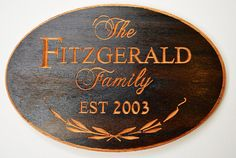 Custom Personalized Family Name Plaque - Established Sign - Carved Wood Sign on Etsy, $79.00