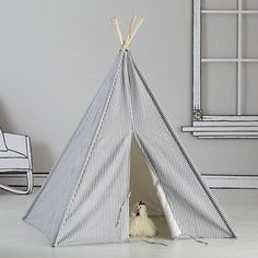 For leo's first birthday....Land of Nod Kids Imaginary: Blue Stripe Play Teepee