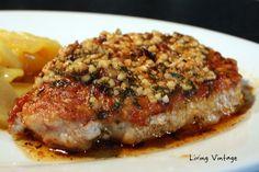 Pork Chops with Browned Garlic Butter Sauce - Living Vintage