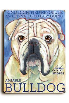 Bulldog by Pet Art Shop on @HauteLook
