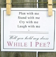 A funny card is a great way to ask your Bridesmaids! www.coquidesign.com