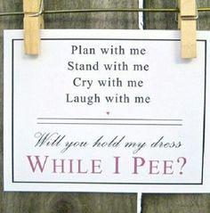 Cute way to ask bridesmaids