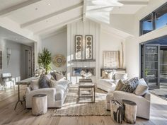 Living room opens to backyard
