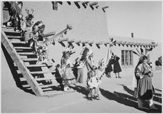 Preparing for Dance at San Ildefonso Pueblo, New Mexico by Ansel Adams