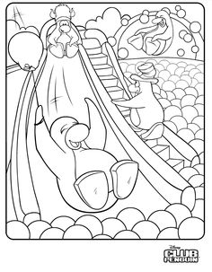 coloring page download club penguin