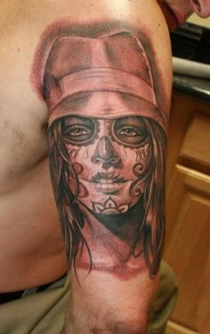 Tattoos by Jose Lopez & Lowrider Tattoo Studio. Wow so much detail! Beautiful art