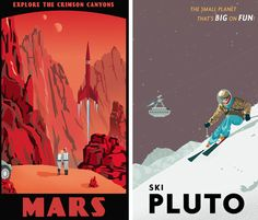 VINTAGE SPACE TRAVEL~Mars & Pluto: STEVE THOMAS