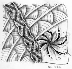"Tickled To Tangle: ""It's a String Thing"" #158 Tiles"