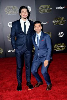 I love this picture. Everyone is just toppled by his height. Fun Fact: Adam Driver served as a U.S. Marine. So, he has experience in combat.