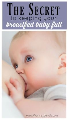 Think your nursing baby is still hungry after feeding? Learn how to get your new baby full with just breast milk! Whether you are nursing or pumping, this breastfeeding tip is a life-saver!
