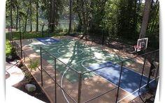 Building a Pickleball Court | tennis court construction backyard basketball court installation ...