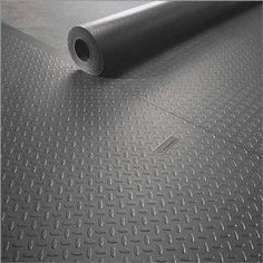 PVC roll out mats for Johns garage. Option for covering garage floor (would be faster, easier, pricier, and last longer than painting) Garage Velo, Garage Shed, Man Cave Garage, Garage House, Garage Workshop, Dream Garage, Small Garage, Garage Floor Mats, Garage Office
