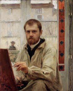 Émile Friant · Autoritratto · 1887 · Ubicazione ignota