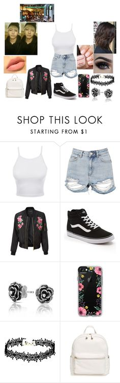 """""""Coffee Date with Taehyung!"""" by teenaged-aliens ❤ liked on Polyvore featuring LE3NO, Topshop, Vans, Bling Jewelry, Casetify and BP."""