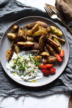 crispy za'atar fries with garlic scallion sauce..