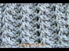 Rib stitch patterns (knit) - joustinneulemalleja on ...