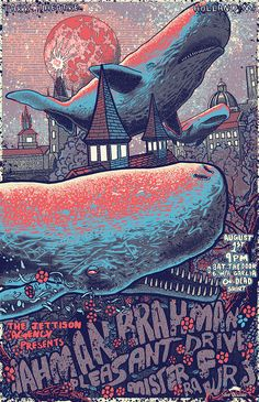 music event poster on Behance by  Jeff Ockerse, Columbus, OH, USA   Illustration   Ilustração   Whale   Draw   Drawing  