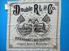 New Ralph Lauren RRL Train Eagle Flag Print Off White Cotton Scarf Bandana | eBay