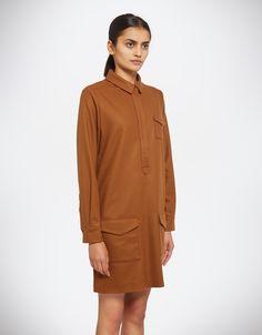 Wool Shirt Dress - You Must Create (YMC)