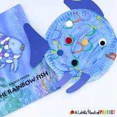 rainbow fish craft – ocean kid craft – crafts for kids- kid crafts – amorecrafty… - Fisch Krafts Ideen Ocean Kids Crafts, Ocean Theme Crafts, Ocean Themes, Toddler Crafts, Crafts For Kids, Water Crafts, Rainbow Fish Activities, Rainbow Fish Crafts, Craft Activities