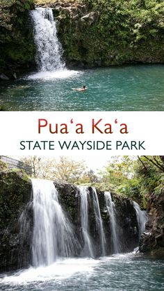 Pua'a Ka'a tops many visitors' lists. Located at Mile Marker 22.5—roughly 40 (albeit serpentine) miles from Kahului—this ultra-green park features a pair of falls that, like the island itself, are nothing short of splendid. #roadtohana #hana #maui #hawaii #waterfalls #waterfallhike #hawaiian #hanamaui #travel #explore #adventure Stuff To Do, Fun Stuff, Things To Do, Maui Hawaii, Hawaii Travel, Travel Pics, Travel Pictures, Hawaii Waterfalls, Road To Hana