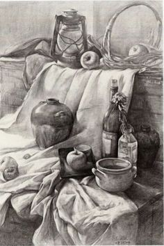 VK is the largest European social network with more than 100 million active users. Still Life Sketch, Still Life Drawing, Still Life Art, Academic Drawing, Drawing Studies, Pencil Art Drawings, Art Drawings Sketches, Pencil Sketch Drawing, Object Drawing