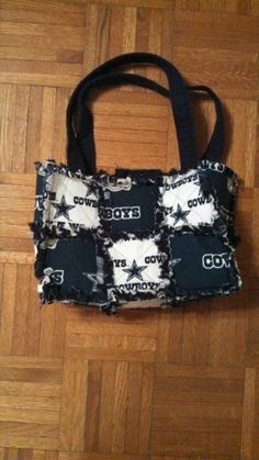 Dallas cowboys rag quilt purse by by Karenskreations2011 on Etsy, $35.00