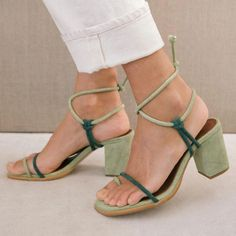 Spring Sandals, Summer Shoes, Green Sandals, En Stock, Pumps, Heels, Strap Sandals, Shoes Sandals, Character Shoes