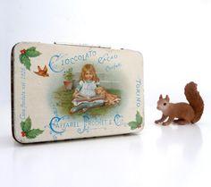 Vintage Italian Candy Tin Box