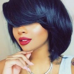 50 Delightful Hairstyles with Long Bangs Forever Fashionable Bangstyle Hair Long Bangs Delightful Fashionable hairstyles long Short Black Hairstyles, Pretty Hairstyles, Bob Hairstyles, Love Hair, Gorgeous Hair, Langer Pony, Natural Hair Styles, Short Hair Styles, Long Bangs
