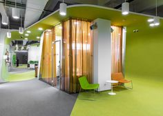 Za Bor Architects adds submarine-like meeting rooms to Yandex's Moscow office