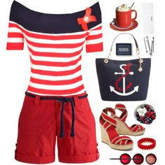 24.06.15 by malenafashion27 on Polyvore featuring Joules, Tory Burch, Tommy Hilfiger, BOBBY, NARS Cosmetics, Conair and C. Wonder